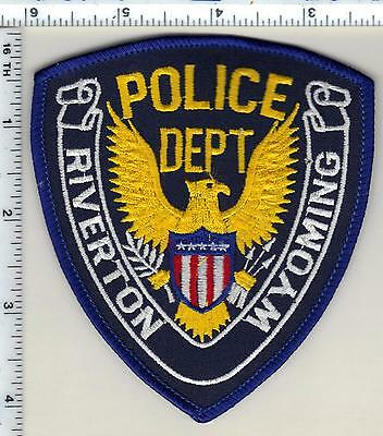Riverton Police (Wyoming) Shoulder Patch from 1989