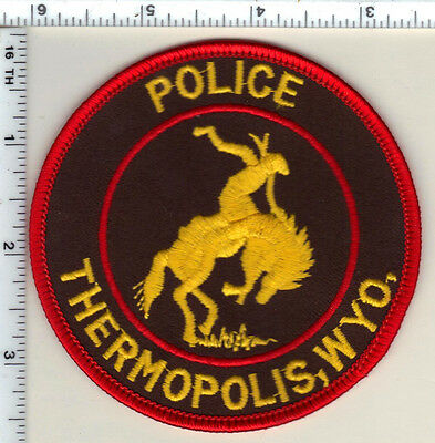 Thermopolis Police (Wyoming) Shoulder Patch from 1989