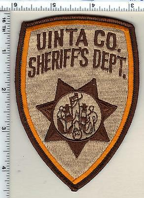 Uinta County Sheriff's Dept. (Wyoming) Shoulder Patch from the 1980's