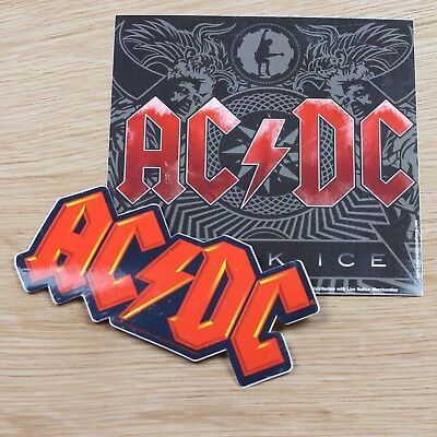 AC/DC Black Ice Album Logo Vinyl Sticker New Official Rock Band Merch