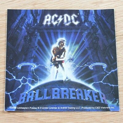 AC/DC Ballbreaker Album Logo Vinyl Sticker New Official Rock Band Merch