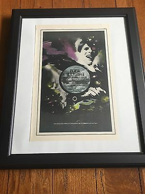 "David Bowie 1973 US Tour Dates 11X17"" Promo Ad In 19X23"" Frame"