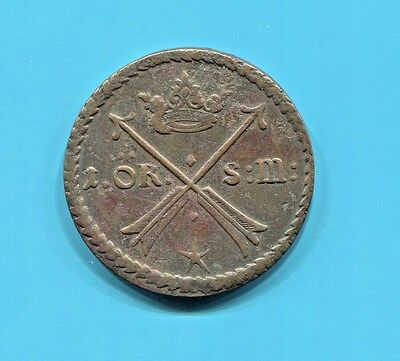 SWEDEN - BEAUTIFUL HISTORICAL COPPER ÖRE (S.M.), 1677, AVESTA MINT, KM# 264a