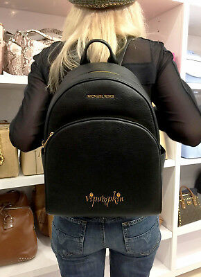 Michael Kors Abbey Leather Large Backpack Bag Black