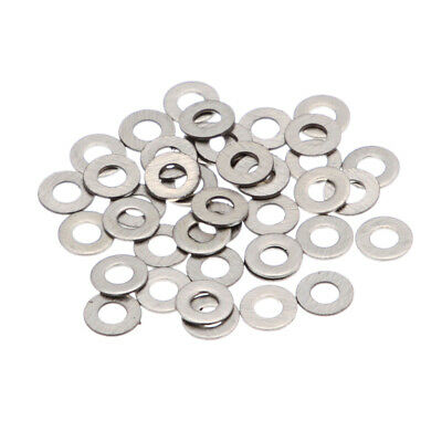 MagiDeal 100pcs/Lot Stainless Steel Flat Washer Plain Washer Flat Gaskets