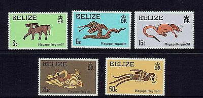 Belize 1974 Mayan Artefacts....pottary Montifs...set Of 5....mint Unhinged