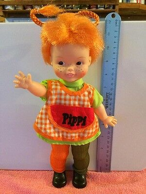 Doll Vintage Pippi Longstocking Doll 1972 Excellent Condition