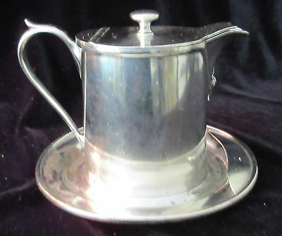 VINTAGE HOTEL/REST SERVING SILVER PLATE CREAM for BANFIELD'S, WINNIPEG, MANITOBA