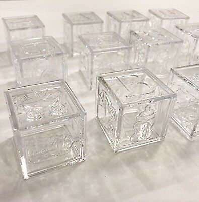 Craft and Party Baby Favor Acrylic Alphabet Fillable Baby Blocks (Clear) ... New