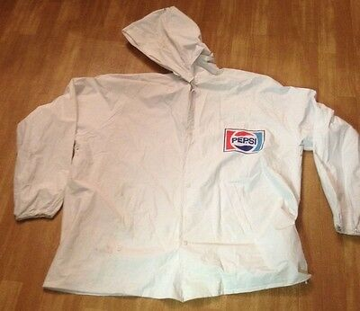 Old School PEPSI PONCHO Jacket, for RAIN. size Men's XL, with Hood