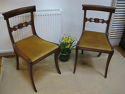 Set of 4 Regency Style Antique Dining Chairs P/U Melb