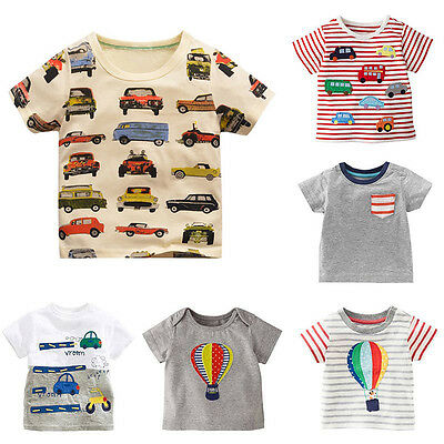 Kids Cartoon Tops Baby Boys Girls Short Sleeve Cotton T Shirt Casual Tee T-Shirt