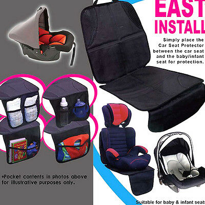 Waterproof Auto Car Seat Back Protector Cover Protect For Kids Baby Kick Mat new
