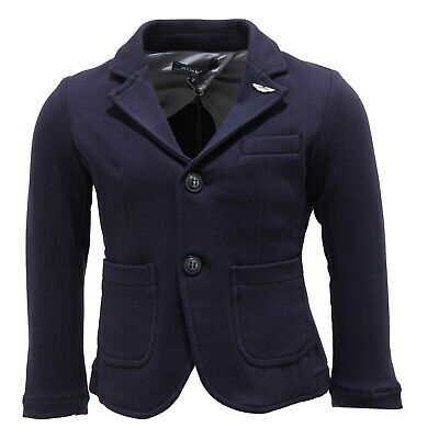 0827T giacca bimbo ASTON MARTIN jersey stretch blu jacket kid