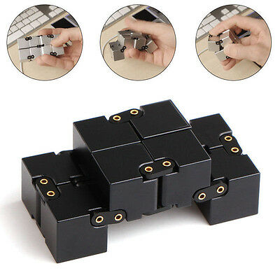 Fashion Mini Metal Infinity Cube for Stress Relief Fidget Anti Anxiety Stress