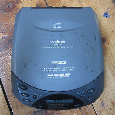 Goodmans GCD47K Personal Portable CD Player Discman Grey Bass Boost Tested