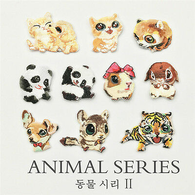DIY Embroidery Cartoon Animal Iron On Sewing Patch Bag Clothes Applique Badge