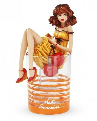 Hiccup Hello Sunshine 10.2cm Girl in Cocktail Glass, 19.1cm Tall with Figurine