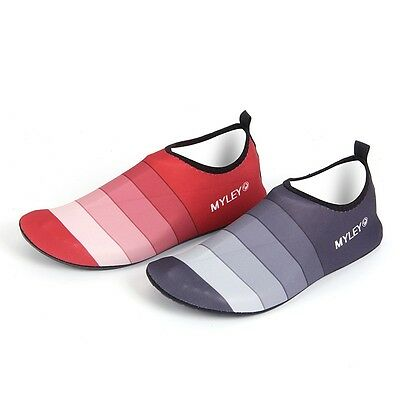 Men Women Couple Water Shoes Men Stripe Beach Dance Swim Surf Yoga Shoes Wetsuit