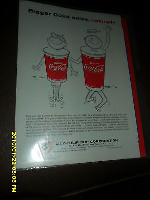 1960's COCA-COLA LILY TULUP CUP CORPORATION 9 & 12oz
