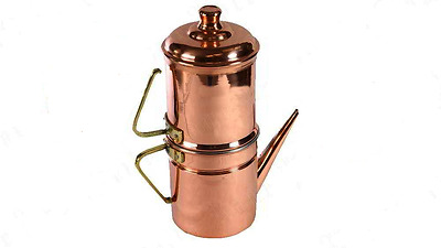 ORIGINAL COFFEE MAKER NAPOLETANA COPPER 4 CUPS with filter
