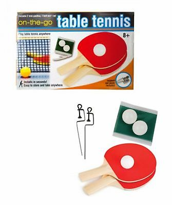 Tabletop Table Tennis Game Ping Pong Set On The Go Anytime Anywhere NEW