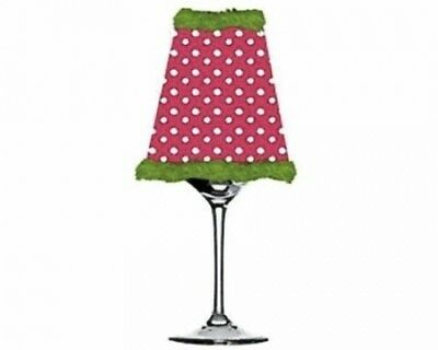 Get Lit Wine Glass Votive, Pink Dot. Cypress. Delivery is Free