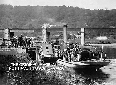 Paddle Steamer Youghal To Cappoquin Ireland 1908 Ancestry Vintage Print Mounted