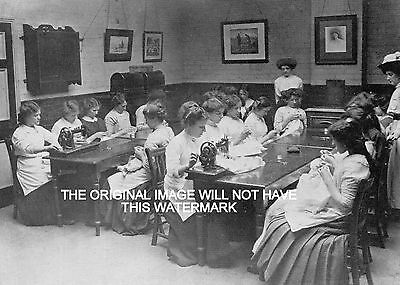 Jacobs Biscuit Factory Dublin Sewing Class 1905 Ancestry Vintage Print Mounted