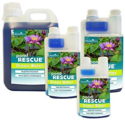 All Pond Solutions Pond Rescue Green Water Algae Control Treatment Koi Fish Safe