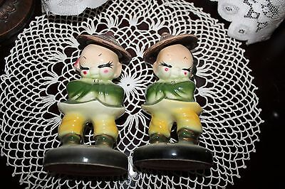 Mr. Mrs. Ant Asian Figurines Traditional Clothing Straw Hats Japan Queue hair