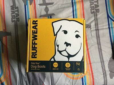 """New ruffwear grip trex dog shoes boots 2.75"""" redcurrant 4 shoes vibram"""