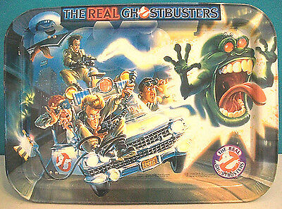 THE REAL GHOSTBUSTERS METAL FOLDING TRAY 1986 MOVIE TV 80s ECTO-1 SLIMER PUFT