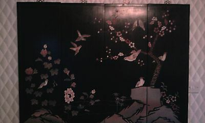 four panelled oriental chinese/japanese wall screen