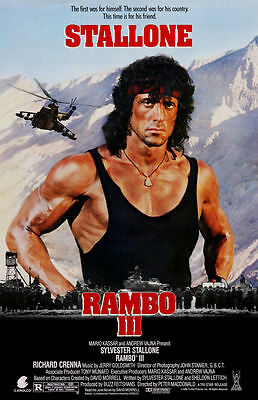"Rambo lll  (11"" x 17"") Movie Collector's Poster Print (T2) - B2G1F"