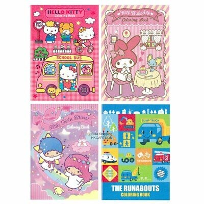 Sanrio Hello Kitty Melody Little Twin Stars The Runabouts Malbuch 2652