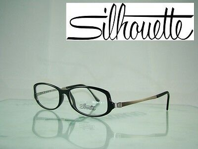 574e3e79a0 Silhouette SPX 1989 60 6050 LIGHT WEIGHT BLACK Frames Eyeglasses Size 52