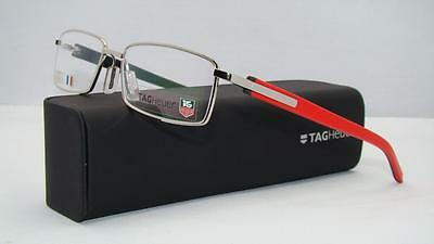 Tag Heuer Trends TH 8006 005 Red & Silver Glasses Eyeglasses Frames Size 55
