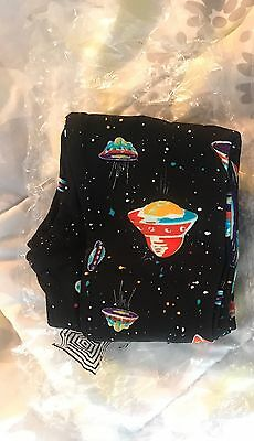 S/m Lularoe Spaceship Rocket Kids Space Leggings