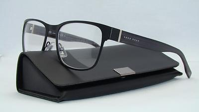 Hugo Boss 0798 QMM Matte Black Org Case Brille Glasses Frames Eyeglasses Size 53