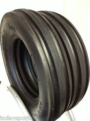 TWO New 5.50-16 Tri-Rib 3 Rib Front Tractor Tires 6PR B Heavy Duty 5.50x16