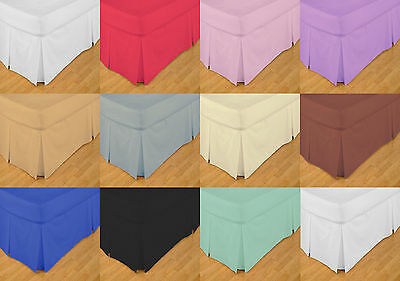 100% Egyptian Cotton 200 Thread Count 12'' Extra Deep Box Pleated Valance Sheets