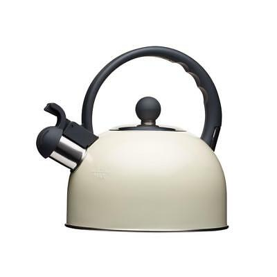 Living Nostalgia Kettle Whistling Stove Top Cream Duck Egg Grey Suitable for Aga