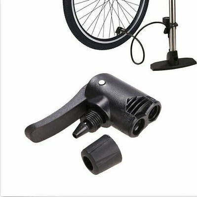 Track Bicycle Adaptor Tyre Tube Replacement Valve Dual Head Pump Foot Hose Spare