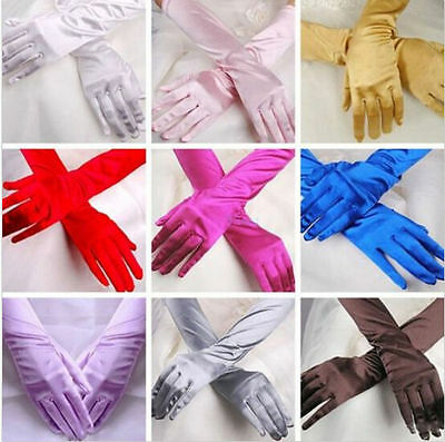 Prom Opera Long Gloves Costume Evening Party Satin Gloves Wedding Hot Bridal