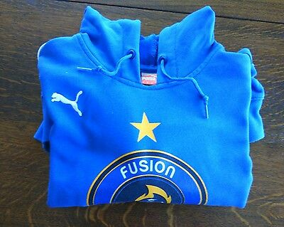 Puma Hoodie Pullover Soccer Top Football Size M Blue Fusion Futbol Tampa Bay USA