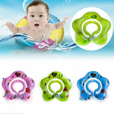 Safety Bath Aid Toy Inflatable Neck Baby Newborn Swimming Circle Float Ring New