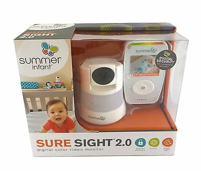 Summer Infant Sure Sight 2.0 Digital Color Video Baby Monitor 29600 Night Light