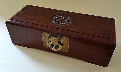 Japanese wood vintage Art Deco antique small jewellery casket box
