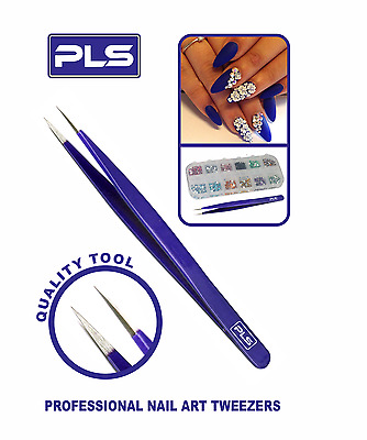 PINCES Stainless Steel Nail Art Tweezer Pointed Tip for Nail Art Work